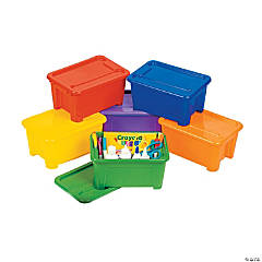 Plastic Rectangle Bins with Lids