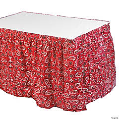 Plastic Red Bandana Print Tableskirt