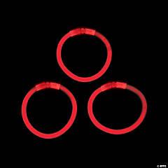 Plastic Red Glow Bracelets