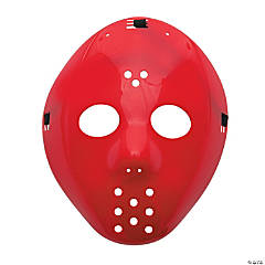 Plastic Red Hockey Masks
