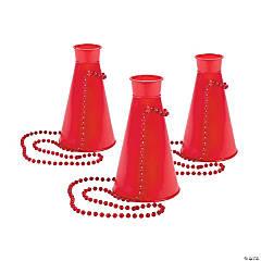 Plastic Red Megaphone Necklaces