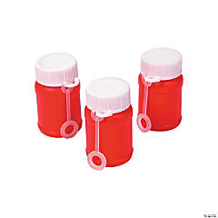 Plastic Red Mini Bubble Bottles