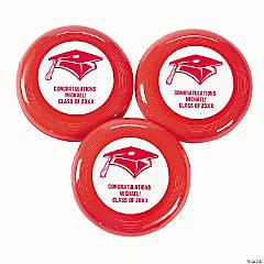 Plastic Red Personalized Graduation Mini Discs