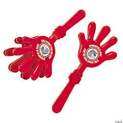Plastic Red Team Spirit Custom Photo Hand Clappers