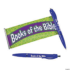 "Plastic Religious ""Books of the Bible"" Scroll Pens"