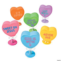 Plastic Religious Conversation Heart Pop-Ups