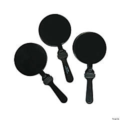 Plastic Round Black Clappers
