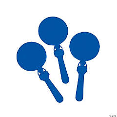 Plastic Round Blue Clappers