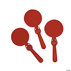 Plastic Round Burgundy Clappers