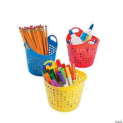 Plastic Round Classroom Storage Baskets