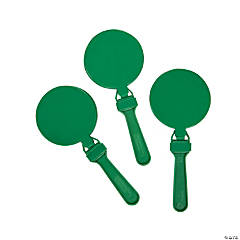 Plastic Round Green Clappers
