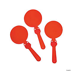 Plastic Round Red Clappers