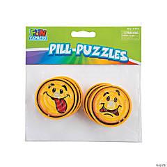 Plastic Round Smile Face Pill Puzzles