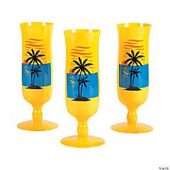 Plastic Sand & Sun Hurricane Glasses