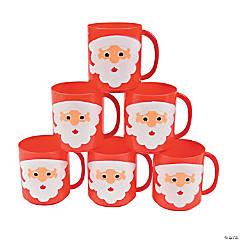 Plastic Santa Face Mugs