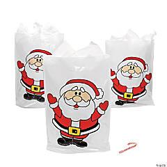 Plastic Santa Goody Bags