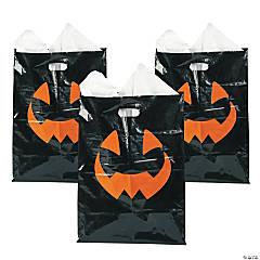 Plastic Scary Halloween Trick-or-Treat Goody Bags