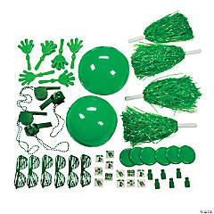 Plastic School Spirit Assortment - Green