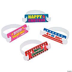 Plastic Seasonal Rubber Tab Bracelets