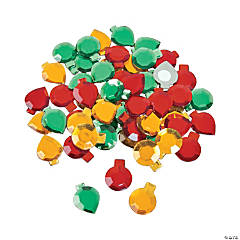 Plastic Self-Adhesive Christmas Ornament Jewels
