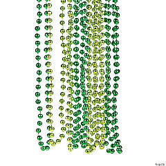 Plastic Shades of Green Beaded Necklaces