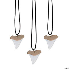 Plastic Shark Tooth Necklaces
