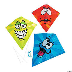 Plastic Silly Face Kites