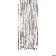 Plastic Silver Metallic Beaded Necklace