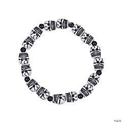 Plastic Skull Beaded Bracelets