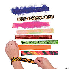 Plastic Slap Bracelet Assortment - 100 pcs.