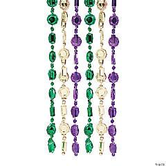 Plastic Small Coin Mardi Gras Necklaces