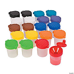 Plastic Small Paint Cups Classpack
