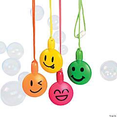 Plastic Smile Face Bubble Bottle Necklaces