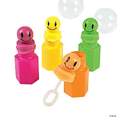 Plastic Smile Face Bubble Bottles