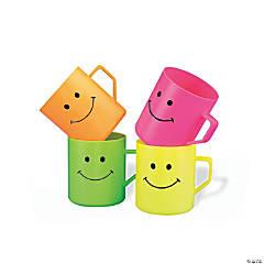 Plastic Smile Face Mugs