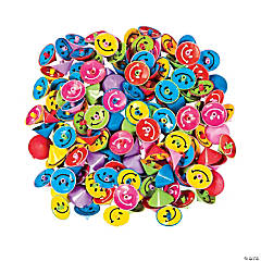 Plastic Smile Face Spin Tops