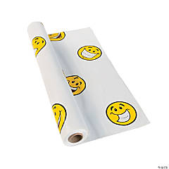 Plastic Smile Face Tablecloth Roll