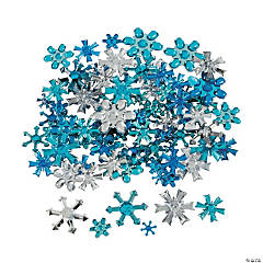 Plastic Snowflake Jewel Assortment