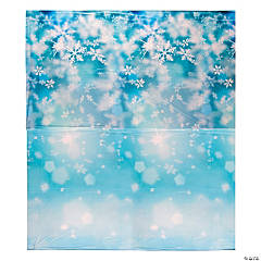 Plastic Snowflake Print Design-a-Room Background