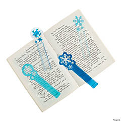 Plastic Snowflake Ruler Bookmarks