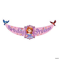Plastic Sofia The First Birthday Banner