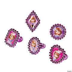 Plastic Sofia the First Jewel Rings