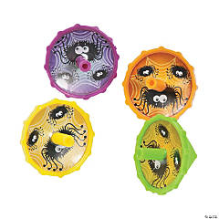 Plastic Spider Spin Tops