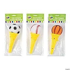 Plastic Sport Ball Ice Cream Cone Shooters