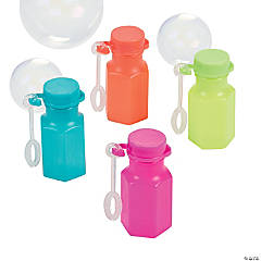 Plastic Spring Brights Bubble Bottles