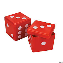 Plastic Square Dice Containers