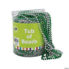 Plastic St. Pat's Tub of Beads