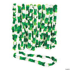 Plastic St. Patrick's Day Tri-Color Leis