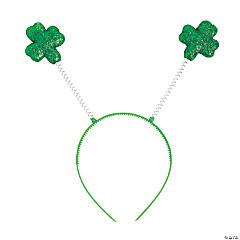Plastic St. Patrick's Day Glitter Shamrock Head Boppers