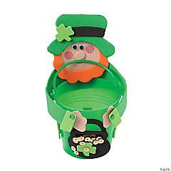 Plastic St. Patrick's Day Leprechaun Bucket Craft Kit